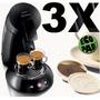 3 Filtros Reutilizáveis Da Cafeteira Senseo Refil Ecopad