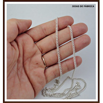 Cordão,corrente Cadeado Ou Grumet Em Prata,90cm Frete Gratis