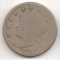 Estados Unidos, 5 Cents, 1888. G / G+