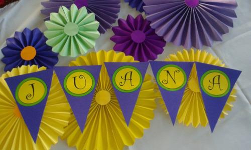 5 abanico rosetas para cumplea os infantil decoraci n - Abanicos para decorar ...