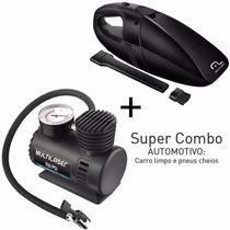 Aspirador De Pó Automotivo+mini Compressor De Ar Multilaser