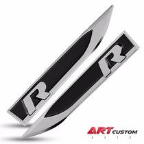 Par Emblemas R Line Original Vw Golf Jetta Polo Passat Fusca