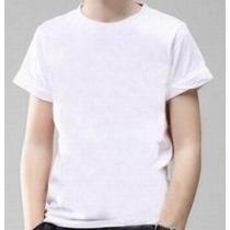 Kit 25 Camisetas Infantil Para Sublimação Branca Lisa