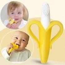 Baby Banana Mordedor Massageador Silicone Escova Dentes