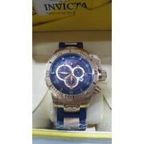 Relógio Masculino Invicta Cordoba 6677 Fundo Azul Com Caixa