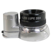Lupa Vaso 15 Mm 20x Con Led Marca Obi