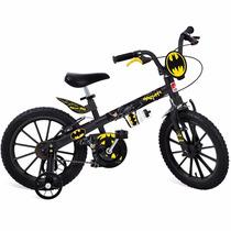Bicicleta Infantil Menino 16 C/ Rodinhas Batman Bandeirante