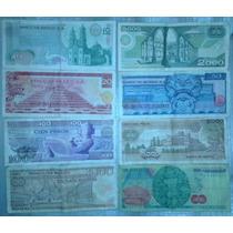 Billetes Antiguos De Mexico Pesos Coleccion De 8 Como Nuevos