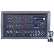Mezcladora Amplificada 6ch Efectos Usb Eq Bluetooth Graba