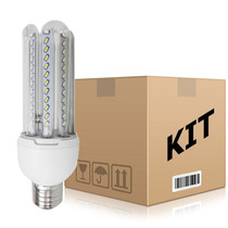 Kit 10 Lâmpadas Led 16w Econômica Bivolt E27 Branco Frio