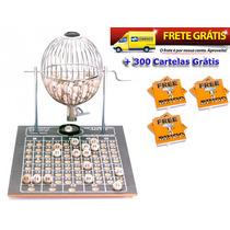 Globo Bingo Profissional Nº2 Com 300 Cartelas Frete Grátis