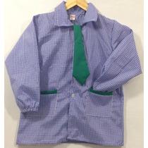 Pintorcito De Jardin Clasicos Azul Con Corbata Verde T.4