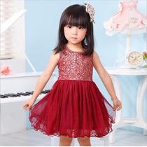 Vestido Infantil Vermelho 4anos