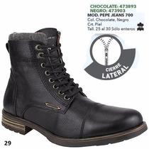 Botas Pepe Jeans Para Caballero Color Negro Y Chocolate I
