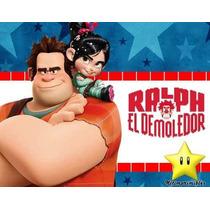Kit Imprimible Ralph El Demoledor Diseñá Tarjetas, Cumpl 2x1