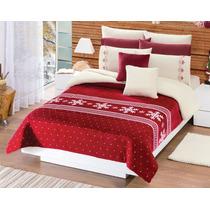 Cobertor Borrega Navideño Matrimonial/individual