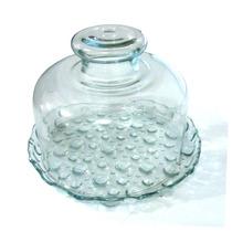 Queijeira Pequena Crystal Glass - Base E Tampa De Vidro