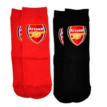 Calcetines De Arsenal - Uk 12.5-3.5 Roja Y Blanca Paqu. De 2