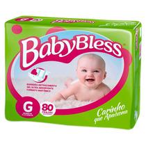 Combo Fralda Baby Bless Mega Tam. G C/ 320 Unidades