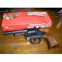 Juguete Antiguo Revolver Metal Cebitas Billy Bang 12 Tiros