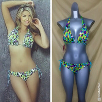 Bikini Multiformas 4 En 1 Colombiano Nuevo Talla 34 Pareo