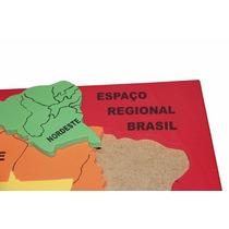 Quebra Cabeça Mapa Espeço Regional 5 Peças Eva Carlu