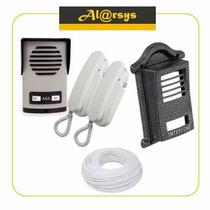 Kit Interfone Para Dois Pontos Agl + Protetor + Fio