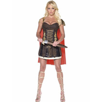 Disfraz Mujer Romana Gladiadora Sexy Marca Fever Talla S