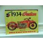 Cartel Chapa Moto Indian 40 X 30 Cns