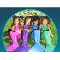 Cola De Sirena Con Monoaleta Talla 6 /12 Disfraz Colores