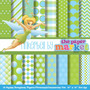 Kit Imprimible Pack Fondos Tinkerbell Clipart