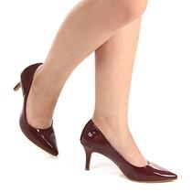 Sapato Scarpin Feminino Lara - Vinho