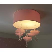Luminária Plafon Bailarinas2/ Quarto De Bebê / Menina