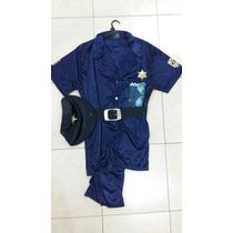 Disfraz De Policia Con Gorra Para Adulto