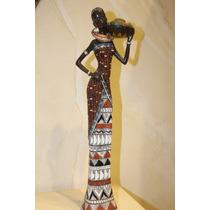 Escultura De Mujer Africana