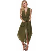Vestido Bluson Casual Sexy Fiesta Moda Asiática Envío Gratis