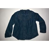 Camisa Jean Oscura Nena - Gap - Talle 4t