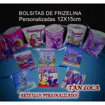 Bolsitas De Frizelina Personalizadas Medida 12x15cm