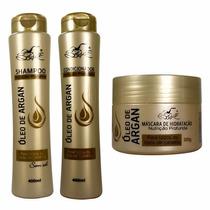 Kit 6 Shampoo 6 Condicionador 6 Máscara Argan Frete Grátis