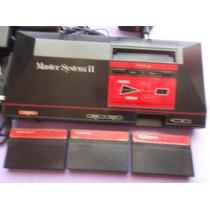 Master System Clássico Sega Tectoy Completo+04 Fitas Brinde