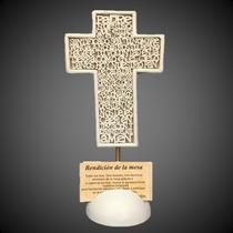 Cruces Padre Nuestro Letras Tipo Mdf Bendicion De Alimentos