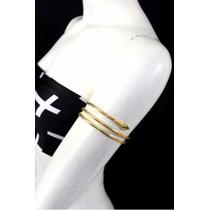 Bracelete Braçadeira Cobra Dourada Frete Grátis