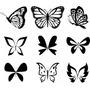 Rdg - Vinilo Sticker Calcomanía Mariposas (por Unidad)