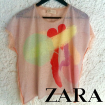 Blusa Zara Original Colores De Neón, Para Dama Nueva