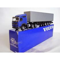 Miniatura Caminhão Volvo Fm-10 6x4 Carreta Container = Arpra