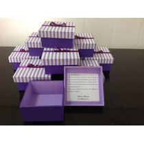 10 Caixas Convite Para Padrinhos De Casamento 10x10x5