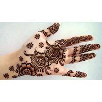 Caja-henna Organica Cafe\ Tatuajes Temporal Hecho En India