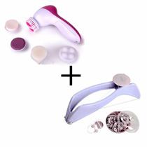 Kit Esfoliador Facial Skin + Depilador Slique Facial Pelos