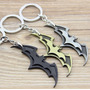 Chaveiros Batman Metal Dccomics Kit Com 3 Preto Prata Bronze