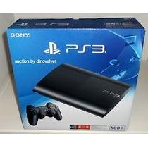Ps3 Hd500gb Ultra Slim C 1 Joy Nueva! C Gtia Zona Norte !!